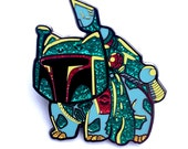 ALMOST GONE 4 left! limited edition numbered Bulbafett Glitter armor