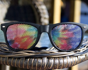 Tie dye Graphic festival wayfarer sunglasses