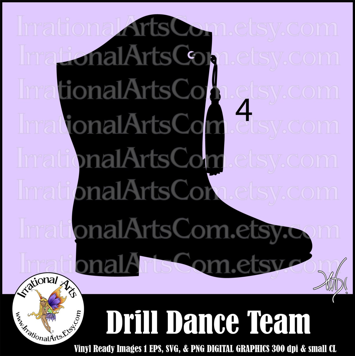 drill dance team silhouettes pose 4 boot 1 eps amp svg