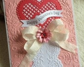 Homemade Valentine's Day Card...One of A Kind Trellis Heart Homemade Valentine's Day Greeting Cards