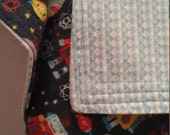 Space Robots cotton flannel baby blanket/swaddle