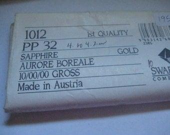 Lot of 144 PP32 Sapphire AB Article 1012 Swarovski Rhinestones 4mm