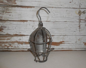 Vintage Industrial Metal Light Cage