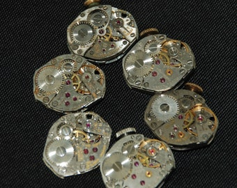 Vintage Watch Movements Parts Steampunk Altered Art Assemblage CD 39