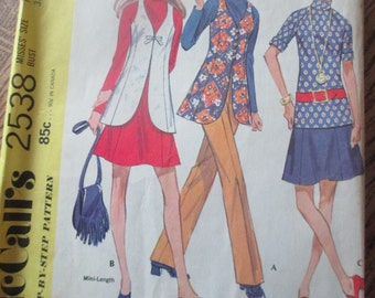 Vintage Mccalls pants, skirt, blouse and vest pattern size 16