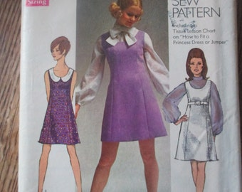 Vintage Simplicity Dress Jumper Pattern