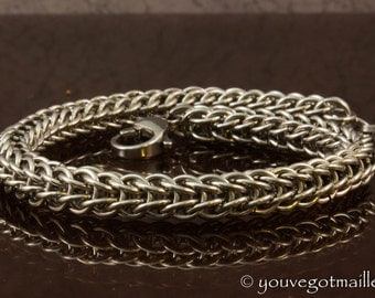 Sturdy Stainless Steel Chainmaille Bracelet
