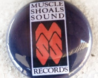 Muscle Shoals Logo 1 inch Button
