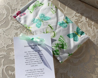 Butterfly Rice Bag, Heating Pad, Hand Warmer, Therapeutic Rice Bag, Pretty, Cute, Girl, Gift, Small