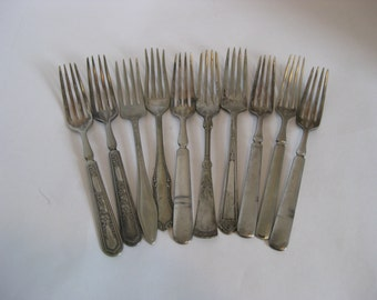 Vintage Silver Plate Forks Flatware Re-Purpose