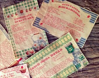 5 Distressed Fabric Farmhouse Recipes - Tea Towel  Appliqués - Potholder Motifs - Apron Motifs