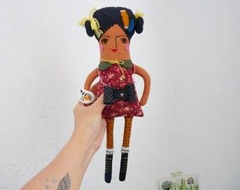 Birdwatcher Rag Doll with Accesories Dark Skin
