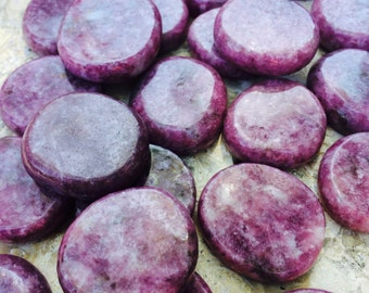 Lepidolite Gemstone Medallions, Healing Stone of Transformation