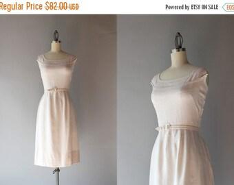 STOREWIDE SALE 1950s Linen Dress / Vintage 50s Dress / Fifties Natural Linen Wiggle Dress