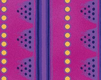Laurel Land Fuchsia Stripe Clothworks Fabric 1 yard