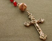 MARKED DOWN Red Five Decade Rosary