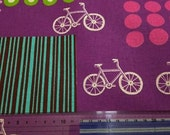 Japanese Linen Blend Cotton Fabric Kokka Echino Etsuko Furuya Bicycle 2 colors to choose RESERVED FOR RO