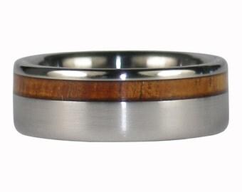 Dark Koa Offset Titanium Ring