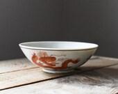 Antique Bowl, Porcelain Bowl, Asian Bowl, Baskets and Bowls, Vintage Bowl, Chinese Bowl, Rice Bowl, Dragon and Phoenix, Home & Living