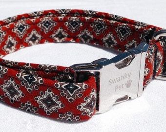 Smoking Jacket - Stylish Preppy Dog Collar from Swanky Pet!