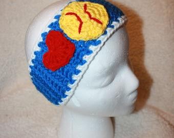 Crochet Softball Ear Warmer
