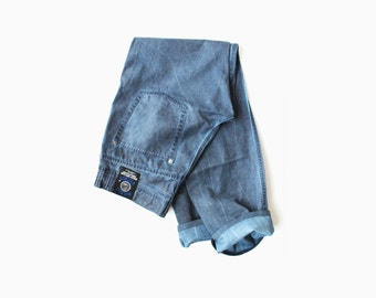 Moschino Blue Dyed Distressed Cotton Pants