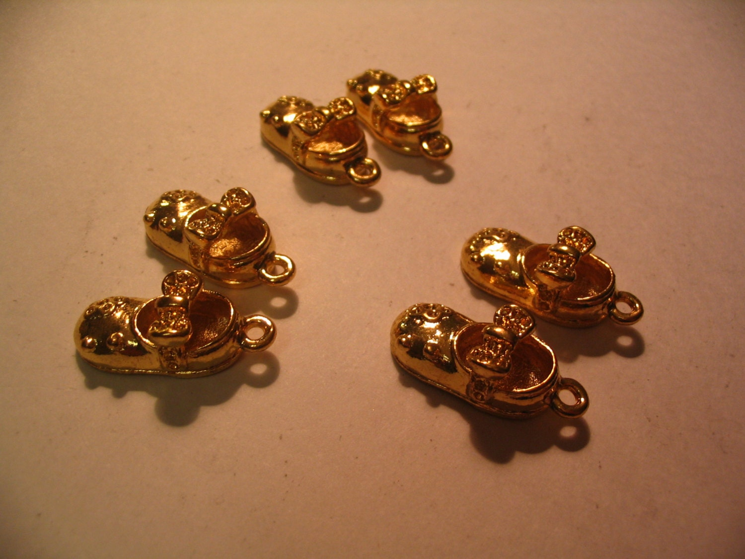 6 vintage baby girl shoes charms jewelry craft supplies for Craft and jewelry supplies