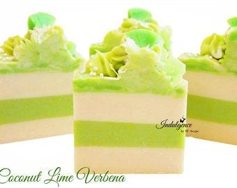 Soap-Coconut Lime Verbena Artisan Vegan Soap, handmade soap, cold process soap, vegan soap, summer soap