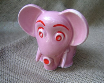 Brush McCoy Pottery Elephant Planter Pink Elephant Vintage 1939