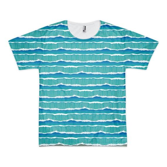 O-cean  : Moisture Wicking Tee Shirt - Yoga Running Hiking Spinning Sport T Shirt
