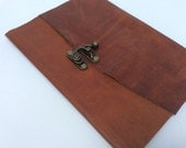 Simple Brown Leather Baby Journal by Binding Bee Indianapolis, Indiana