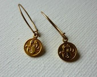 Scorpio Earrings. Delicate Bohemian Jewelry