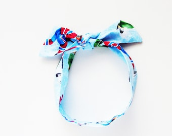 Ice Hockey Game Head Scarf Hair Accessory / Stocking Stuffer / Neck Scarf / Handbag or Walker Adornment / Rockabilly Scarf / Gift Under 20