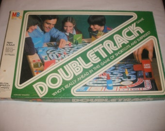 Vintage Doubletrack Board Game by Milton Bradley 1981 100% Complete