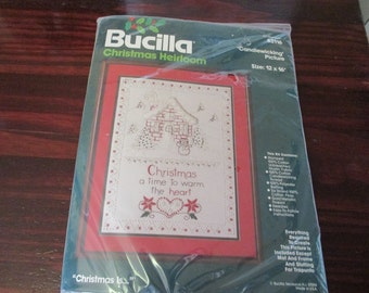 Embroidery Candlewicking Sampler Christmas Is... Bucilla 82116 NIP Complete and Ready to Stitch