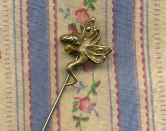 DRAGONFLY WOMANS FACE Vintage Stick pin