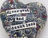 Divergent & Dauntless Ceramic Wall Heart