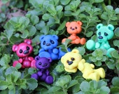 Rainbow bears (1) Figurine Hand Sculpted by Canterberry Tails