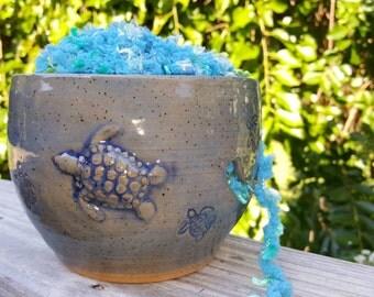 Turtle Yarn Bowl - Yarn Organizer