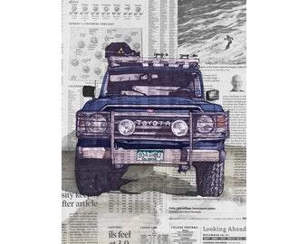FJ60 art print