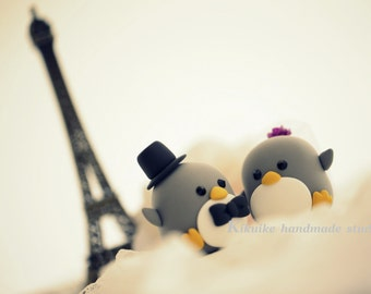 Penguins Wedding Cake Topper (K451)