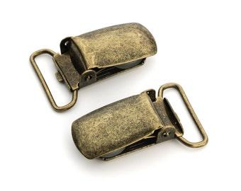 "50pcs - 3/4"" Suspender Clip - Antique Brass - Free Shipping (SUSPENDER CLIP SPN-110)"