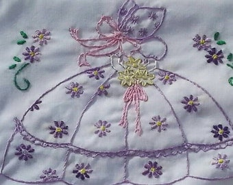 Sew Pretty Pillowcases - Girl in Purple with Flowers