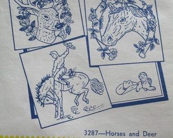Horses and Deet - 3287, Aunt Martha's hot iron transfers