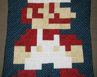 Fire Mario Quilted Pillow Cover - free USA shipping