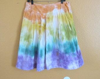 Tie dye skirt rainbow