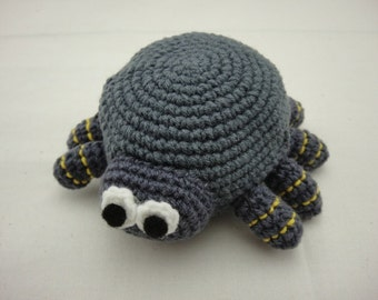 FREE SHIPPING Crochet Coin Small Purse - Spider