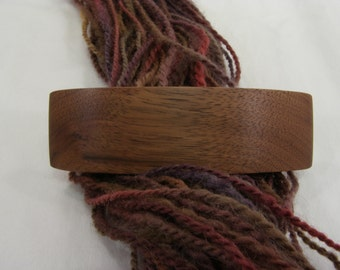 Medium Wooden Barrette, Black Walnut, lifetime guarantee, NO GLUE, long thick hair, french barrette, natural hair accessory, wood barrette