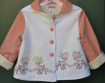 Size 6 Little Girl Jacket Embroidered