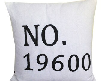 Throw pillows, House number Appliquéd Pillow, Number pillows, House warming Gifts, 18x18, Made to order